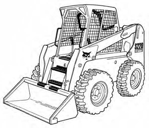 Bobcat S220 Skid-Steer Loader Service Repair Manual Download(S/N 530711001 & Above...)