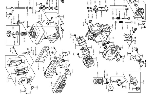 Kawasaki FE120 FE170 FE250 FE290 FE350 FE400 Gasoline Engine Service Repair Manual Download