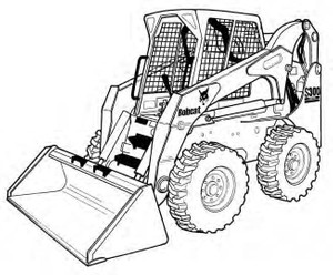 Bobcat S300 Skid-Steer Loader Service Repair Manual Download(S/N AJ4M11001 & Above)
