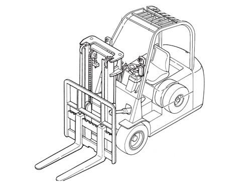 Caterpillar Cat EP20K PAC - EP35K PAC lift Trucks Service Repair Manual Download
