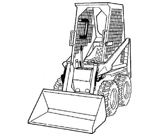 Bobcat 440 443 443b Loader Service Repair Manual Downl