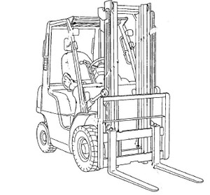 Nissan Forklift Internal Combustion J01 / J02 Service Repair Manual Download