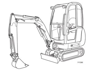 JCB 8025Z 8030Z 8035Z Mini Excavator Service Repair Manual Download