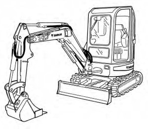 Bobcat 442 Compact Excavator Service Repair Manual Download(S/N 522311001 & Above ...)
