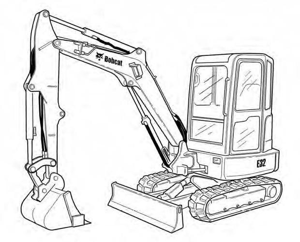 Bobcat E32 Compact Excavator Service Repair Manual Download(S/N B2VV11001 & Above)