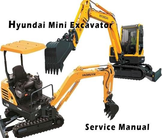 Hyundai Robex 35Z-7A R35Z-7A Mini Excavator Service Repair Manual Download