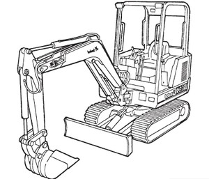 Bobcat X 331 Compact Excavator Service Repair Manual Download(S/N 512911001 – 512912999)