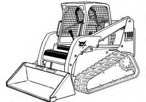 Bobcat T180 Compact Track Loader Service Repair Manual Download(S/N A3LL11001 & Above)
