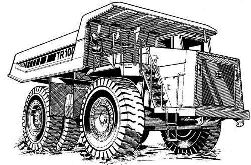 Terex TR100 DD Mining Truck Service Repair Manual