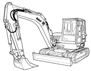 Bobcat 442 Compact Excavator Service Repair Manual Download(S/N ADBR11001 & Above ...)