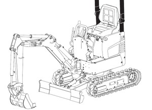 Bobcat E08 Compact Excavator Service Repair Manual Download(S/N A4BP11001 & Above)
