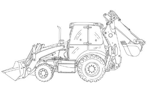 Case 580K Phase 1 LOADER BACKHOE Service Repair Manual