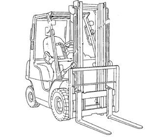 Nissan Forklift Internal Combustion JO1 / J02 Service Repair Manual Download