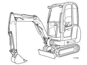 JCB 8013 8015 8017 8018 801 Gravemaster Mini Excavator Service Repair Manual Download