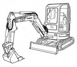 Bobcat 425 428 Compact Excavator Service Repair Manual Download(S/N A1HW11001 & Above ...)
