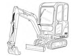 Bobcat 324 Compact Excavator Service Repair Manual Download