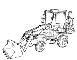 Bobcat Ingersoll Rand BL-275 B Series Loader Backhoe Service Repair Manual(S/N 572411001 & Above)