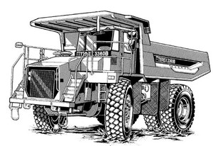 Terex 3360/3360B Off-Highway Truck Service Repair Manual