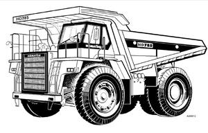 Komatsu HD325-6 HD405-6 HD465-5 HD605-5 HD785-5 Dump Truck Transmission Contral System Shop Manual