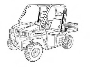 Bobcat 3400 3400XL Utility Vehicle Service Repair Manual Download(S/N:AJNU11001 & Above ...)