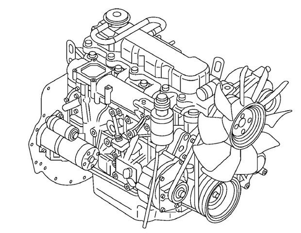 Nissan Forklift TB45 ENGINE Service Repair Manual Download