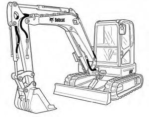 Bobcat E62 Compact Excavator Service Repair Manual Download(S/N B34P11001 & Above)