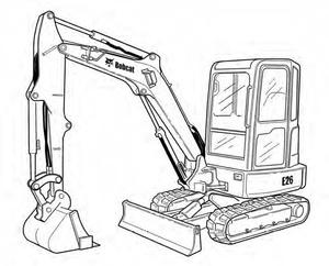 Bobcat E26 Compact Excavator Service Repair Manual Download(S/N AJRY11001 & Above ...)