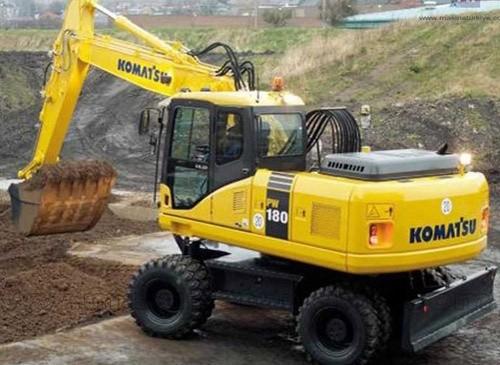 Komatsu PW180-7E0 Wheel Excavator Service Shop Manual(SN:H55051 AND UP)