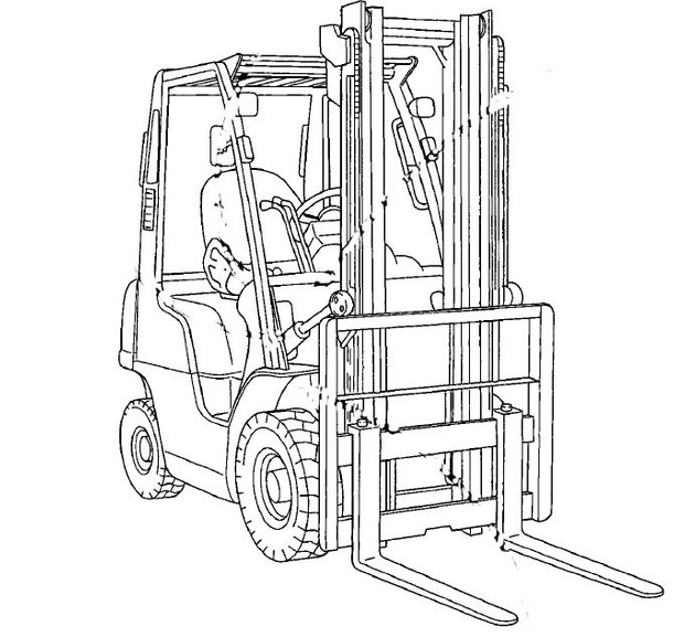 Nissan Forklift Internal Combustion 1F4 Series Service Repair Manual Download