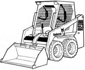 Bobcat 553 Skid-Steer Loader Service Repair Manual Download 4