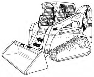 Bobcat T300 Compact Track Loader Service Repair Manual(S/N 525411001 & Above 525511001 & Above)