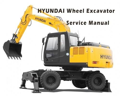 Hyundai R55W-7 Wheel Excavator Service Repair Manual Download