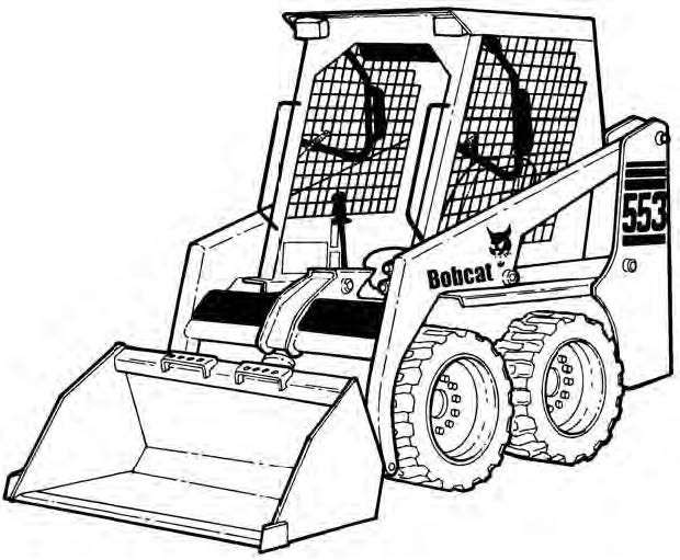 Bobcat 553 Skid Steer Loader Service Repair Manual Dow