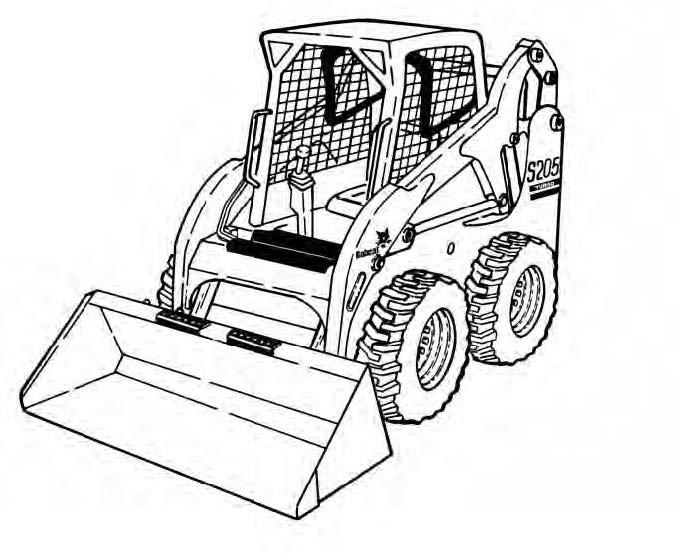 Bobcat S205 Skid Steer Loader Service Repair Manual Do