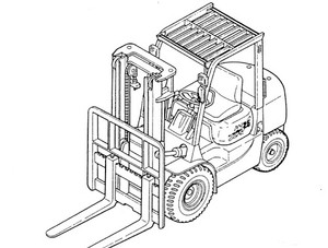 Mitsubishi 6D16 Diesel Engine For Forklift Trucks Service Repair Manual Download