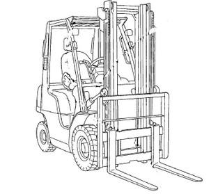 Nissan Forklift Internal Combustion D01 / D02 Series Service Repair Manual Download