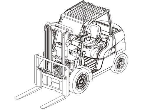 Caterpillar Cat DP100N - DP160N lift Trucks Service Repair Manual Download