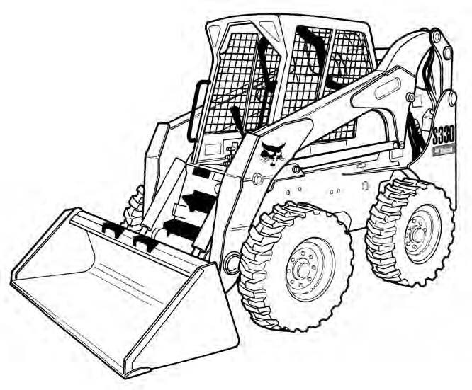 Bobcat S330 Skid Steer Loader Service Repair Manual Do