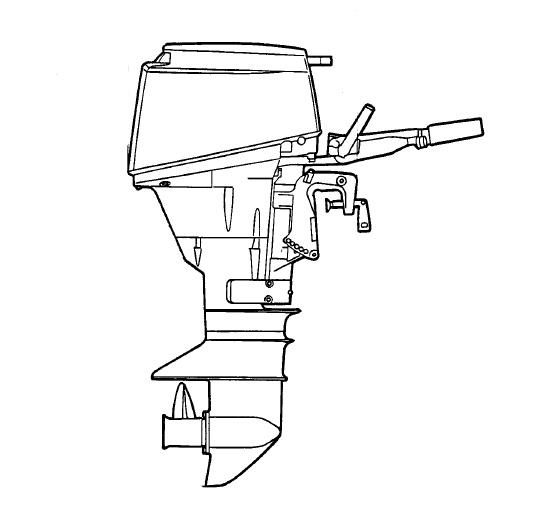 Original Factory Yamaha E60h 2 Stroke Outboard Service