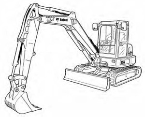 Bobcat E55 Compact Excavator Service Repair Manual Download(S/N AJ1911001 & Above)