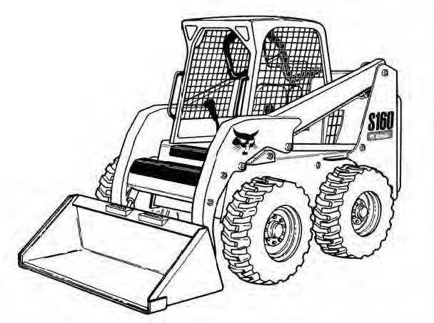 bobcat s150 s160 skid steer loader service repair manu Bobcat 863 Wiring Schematic