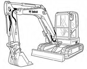 Bobcat E63 Compact Excavator Service Repair Manual Download(S/N B34R11001 & Above)