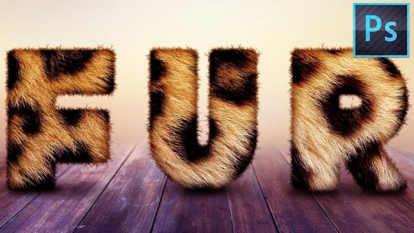 Furry Text (PSD Template)