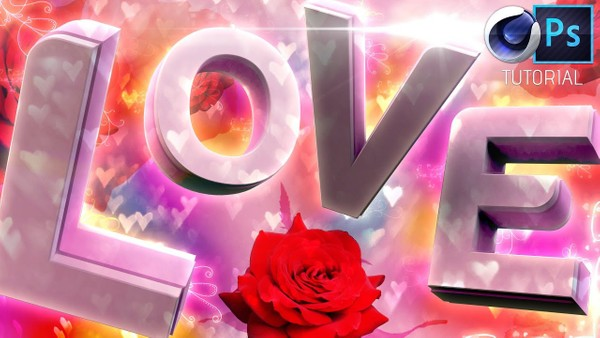 Valentines Day Graphic (PSD Template)