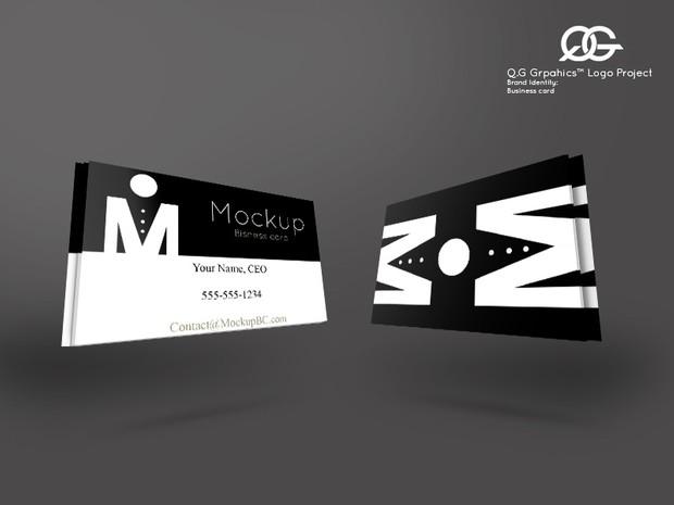 3d business card mock up template qontez george 3d business card mock up template fbccfo Choice Image