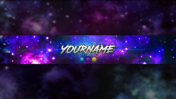 galaxy revamp pack photoshop template youtube banne