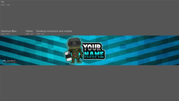 free gaming banner photoshop template free youtube