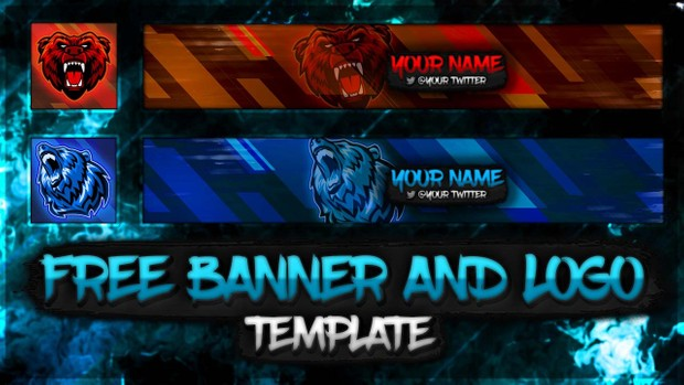 Free Banner And Logo Template   Mascots Style (Fully Customisable Template Pack!)