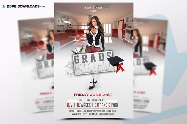 Grads Night Flyer Template
