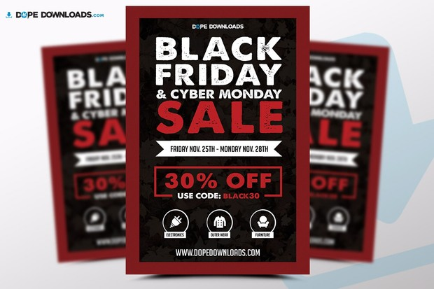 black friday sale flyer template dope downloads